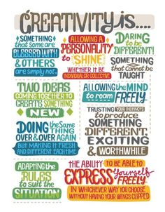 What is creativity?  Here are some examples.