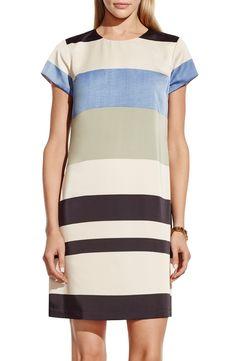 Vince Camuto 'Veranda Stripe' Print Shift Dress