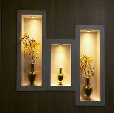 Living Room Partition Design, Room Partition Designs, Hallway Designs, Wall Decor Design, Wall Shelves Design, Ceiling Design, Niche Design, Home Room Design, Home Interior Design