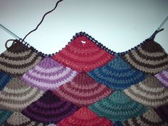modular knitting stitches | Working the half-circles to form corners: