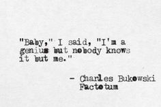 Charles Bukowski | Factotum