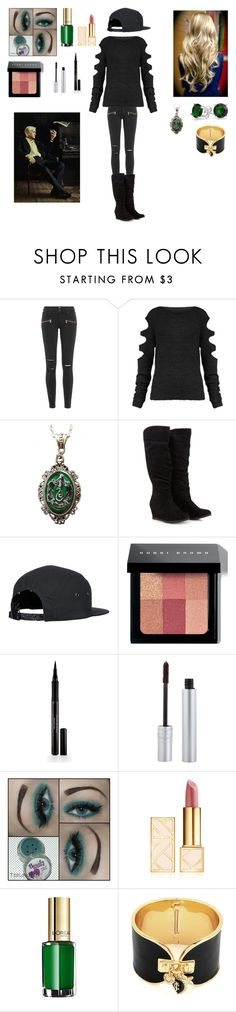 """""""My Harry Potter Slytherin Character"""" by fashionista-gurl-1 ❤ liked on Polyvore featuring Paige Denim, Alkemie, Bobbi Brown Cosmetics, Elizabeth Arden, T. LeClerc, Tory Burch, L'Oréal Paris, Juicy Couture and Bling Jewelry"""