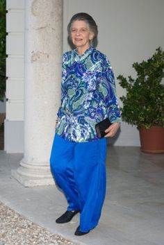 Noblesse et Royautés:  Princess Irene of Greece attended a party at the Greek Embassy in Madrid, July 2014