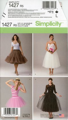 Tulle Skirt Pattern Uncut Simplicity 1427 Evening by CynicalGirl