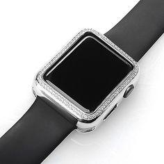 Skyblu by Victoria Wieck Apple Watch Case Silver Tone with Swarovski Zirconia