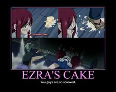 Don't touch Erza's cake if you like life