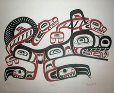 Gallery of Northwest Coast Native Arts and Crafts. Native American Wolf, Native American Patterns, Native American Wisdom, Native Canadian, Haida Kunst, Arte Haida, Arte Tribal, Tribal Art, Native Drawings