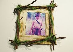 Rustic Rowan Twig Frame, Rowan and Birchbark Picture Frame, Small Wood Twig Rustic Frame, Cabin Decor, Wiccan Pagan Druid Celtic Sacred Wood