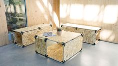 Make your breakout area with PlayWood #chilll #outdoor #breakoutarea #office #event #osb #diy #store #goodlooking