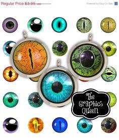 50% OFF SaLe Animal Eyes Digital Eyes  30 mm Circle Digital Download Circles Printable Images Digital Collage Sheet  Jewelry making