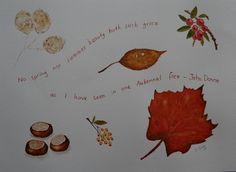 SEPTEMBER 2012 - Autumn / Harvest - Autumn Watercolour, by FlowaPowa Art, £35