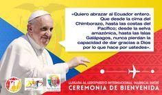 Las bellas palabras del #PapaFrancisco en su saludo a los ecuatorianos. #Ecuador #EWTNPapa