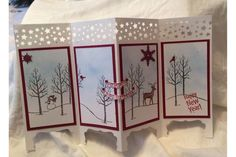 Screen Card Stampin Up Style White Christmas From The Holiday