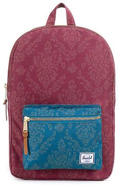 The Settlement Backpack in Burgundy Damask by Herschel Supply Co. Urban  Gear c8936386d0236