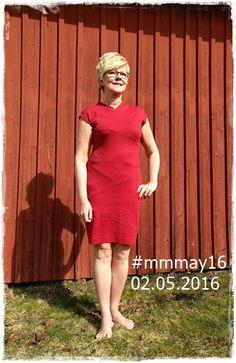 Day2: I wear a Diagonal Lines Dress from Burda 02/2012. #mmmay16