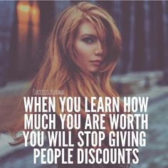 I learned this from @michael_louis_ Don't discount yourself because of someone else's opinion. Know the value you bring to the table.