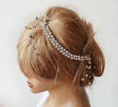 Bridal Headband, Rhinestone Headband, Wedding Headband,  Rhinestone Headbands, Hair Accessory, Wedding Accessory by ADbrdal on Etsy https://www.etsy.com/listing/214558930/bridal-headband-rhinestone-headband