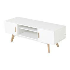 scandinavische witte paulowniahouten semainier woods bedrooms and rustic room - Meuble Tv White Maison Du Monde