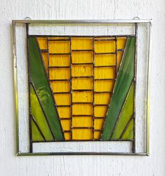 Buy on Etsy: Stained Glass Corn Art Farm Vegetable Iowa Yellow Suncatcher