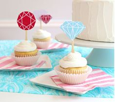 Diamond and Gem Cupcake Toppers | Kim Byers