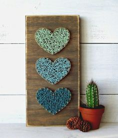 Yarn Art Yarn Art String Art that is extremely pleasant and low cost of Kids Crafts, Diy And Crafts, Arts And Crafts, Crafts Cheap, String Art Diy, String Crafts, String Art Heart, Diy Y Manualidades, String Art Patterns