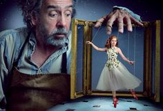 Annie Leibovitz photographed Amy Adams and Tim Burton in scenes from the Red Shoes, by Hans Christian Andersen,