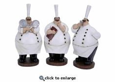 Looking for Fat Chef Polystone Chef 3 Assorted 10 H 5 W? Compare prices for Fat Chef Polystone Chef 3 Assorted 10 H 5 W, find the best offer in hundreds of online stores! Fat Chef Kitchen Decor, Kitchen Items, Decorating Kitchen, Home Decor Accessories, Kitchen Accessories, Luxury Home Decor, Luxury Homes, Italian Chef, Dining Room Sets