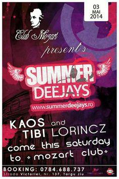 Summer Deejays @Club Cafe Mozart - Tg. Jiu w/ DJ Kaos & MC Tibi Lorincz