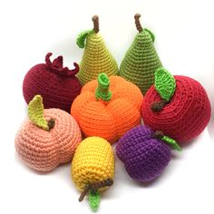 Crochet fruit, amigurumi