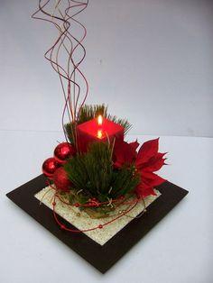 Una decoracion de centro de mesa fino con detalles propio para estas celebraciones Navideñas.