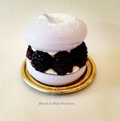 Black & Blue Pavlova -- just one of the gorgeous desserts at Dominique Ansel's bakery in NYC.