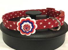 Dog collar red dog collar star dog collar flower dog