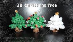 Rainbow Loom 3D Christmas/Xmas/Holiday Tree Charm/Ornament - Gomitas