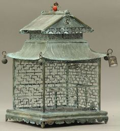 . Omega Auction Corp. 16:00 PT   1209: CHINESE METAL BIRD CAGE circa early 20th century   1