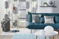 Hobby Hall, verhot, tyynynpäällinen, sohva, valaisin, sisustusideat, sisustusidea