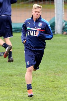 Amato Ciciretti of Italy during a training session at Coverciano on November 22, 2016 in Florence, Italy.