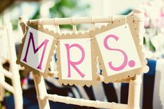 Mrs. sign for chair by Kate Connolly Photography