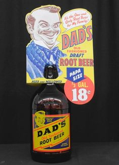 "Vintage Dad's Old Fashioned Root Beer with ""Papa"" Size : Lot 289"