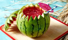 Sip Watermelon Rum Punch Directly from the Fruit