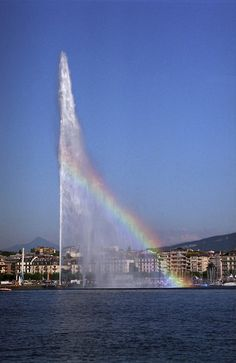 Jet d'Eau (Water Fountain), Geneva, Switzerland