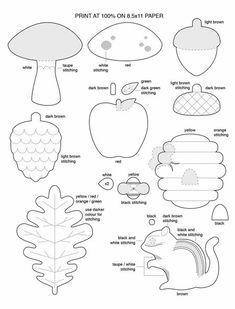Игрушки из фетра с выкройками / Мир игрушки / Разнообразные игрушки ручной работы