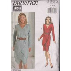 Misses Dress, Tunic & Skirt Butterick Sewing Pattern 3065 (Size: 12-14-16)$13.95