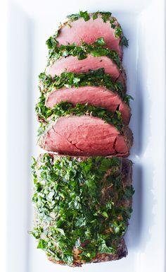 Horseradish-Crusted Beef Tenderloin with Herb Gremolata <3
