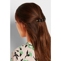 Marni Gold-plated resin hair clip ($160) ❤ liked on Polyvore featuring accessories, hair accessories, marni, hair clip accessories and barrette hair clip
