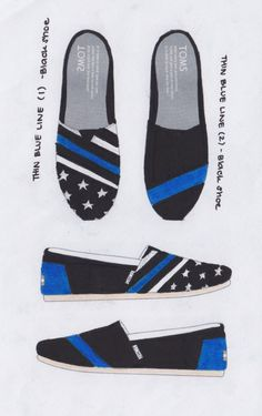Cheap Toms Shoes, Toms Shoes Outlet, Police Officer Wife, Leo Wife, Police Lives Matter, Police Life, Blue Line Flag, Thin Blue Lines, Blue Life