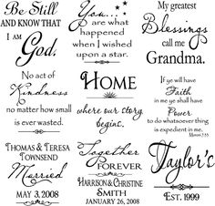 Vinyl Lettering by Susie: Large Tiles....many more available! (Robin)