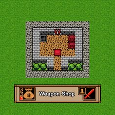 Here is a level 1 weapon shop. It sells basic weapons so it does not give as many resources as the higher levels but hey, the heroes have to start somewhere. #heroscrossing #boardgame #boardgamer #tabletopgaming #pixelart #rpg #gaming #cardgames #strategygames #weapon #weaponshop