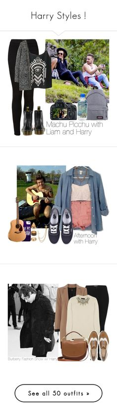 """""""Harry Styles !"""" by littlemixfashionstyle3 ❤ liked on Polyvore featuring Eastpak, Topshop, Dr. Martens, Charlotte Russe, Vans, Forever 21, Oasis, Burberry, ASOS and Mulberry"""