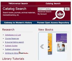 Have you seen the New Books tab on the libraries' website, just under the TWUniversal Search bar? Now you'll always know what new items we have added to our collections!