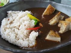 Japanese curry with grilled organic chicken